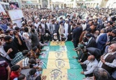 Funeral ceremony of 21 shrine defender martyrs held in Qom
